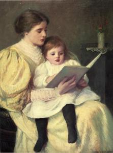«Mother and child» Pintura de Frederick Warren Freer