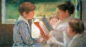 Cassat Reading to Children
