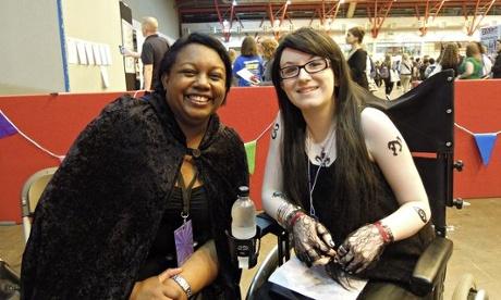 (c) Emily Drabble. Megan com a autora  Malorie Blackman.