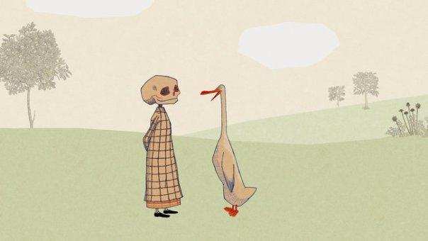 Do livro «Duck, death and the tulip», de Wolf Erlbruch.